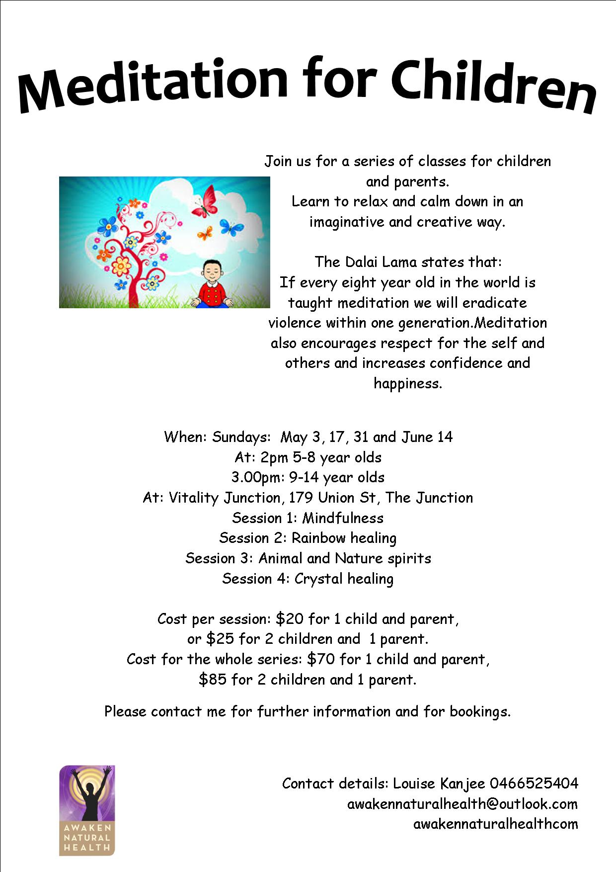children meditation flyer2